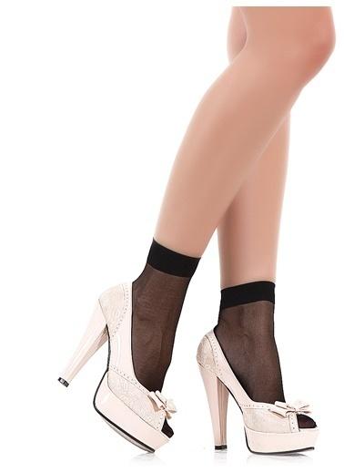 Pierre Cardin 9 Çift  Likralı Soket Çorap Siyah